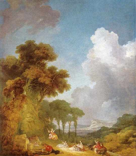 A French Painting in the Classical Era, The Swing, by Jean Fragonard (1732-1806)